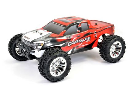 FTX CARNAGE 2.0 1/10 BRUSHED TRUCK 4WD RTR FTX5537R  - RED